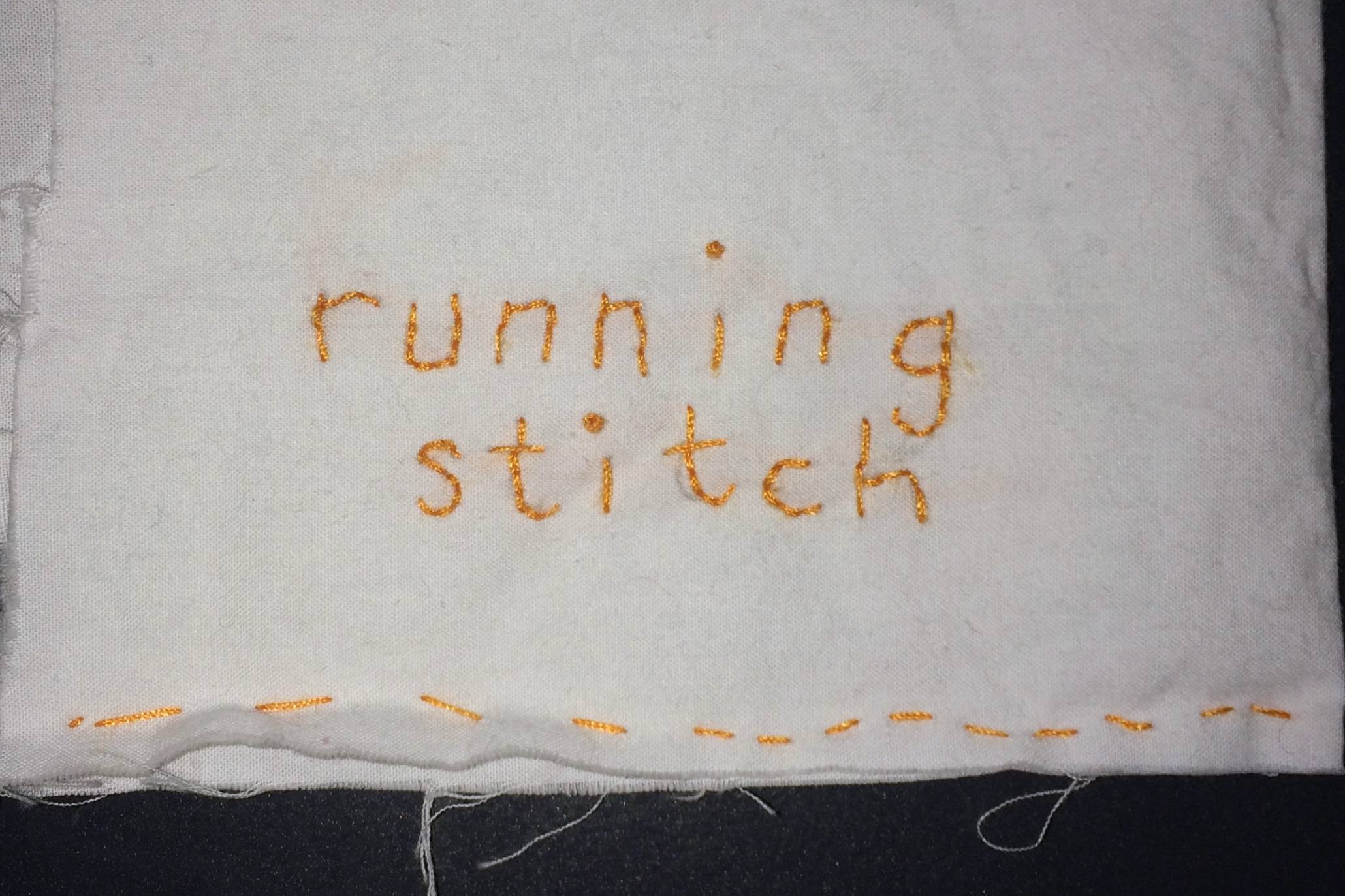 MAKESHOP » The Running Stitch and the Whip Stitch